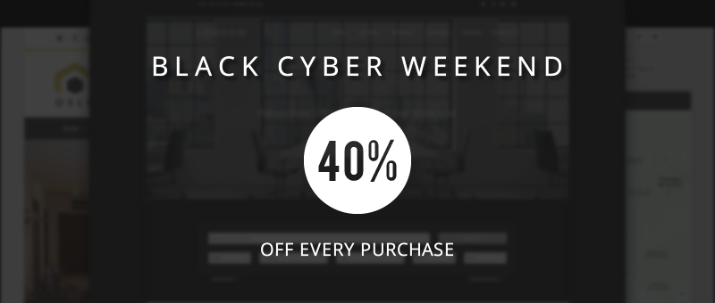 Black-Cyber-Weekend ahead with 40% off every purchase