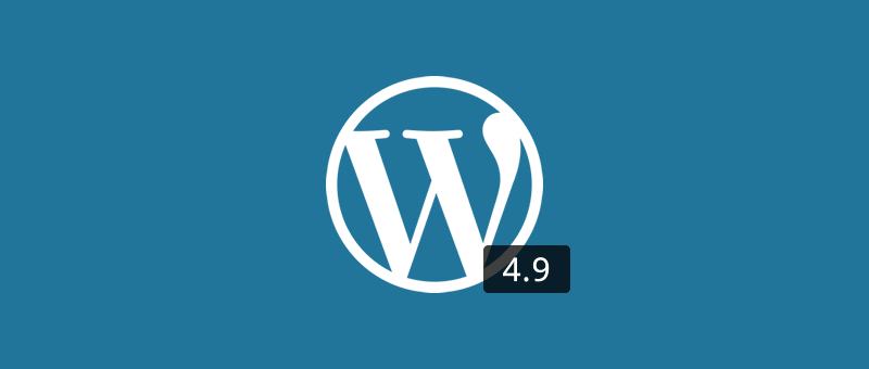 WordPress 4.9 is just around the corner
