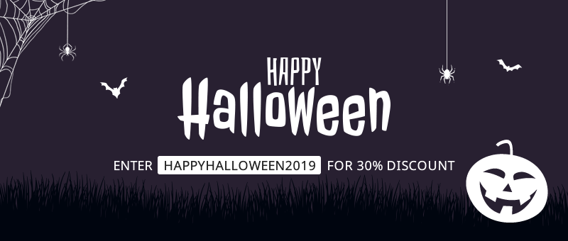 Happy Halloween with 30% on every new purchase