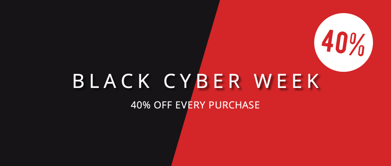 Black-Cyber-Week ahead with 40% off every new purchase
